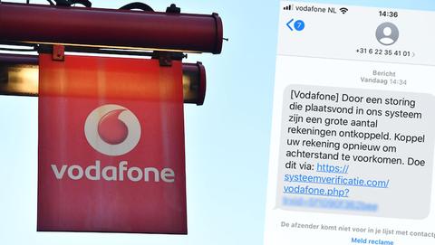 Sms van 'Vodafone' over ontkoppelen rekening? Dat is phishing gericht op klanten van meerdere banken