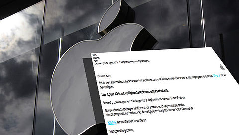 Phishingmail 'Apple' over bevestigen accountgegevens