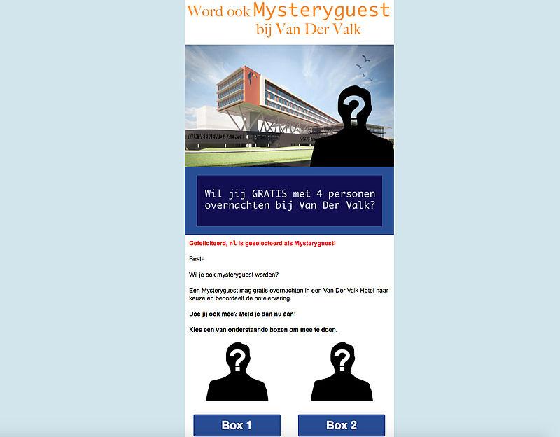 Mystery guest zijn bij Van der Valk? Trap hier niet in!