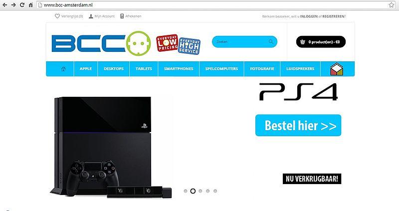 """""""Bcc-amsterdam.nl malafide webshop"""""""