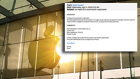 E-mail over vergrendelde Apple ID is phishing