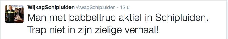 Wijkagent Schipluiden waarschuwt voor babbeltruc