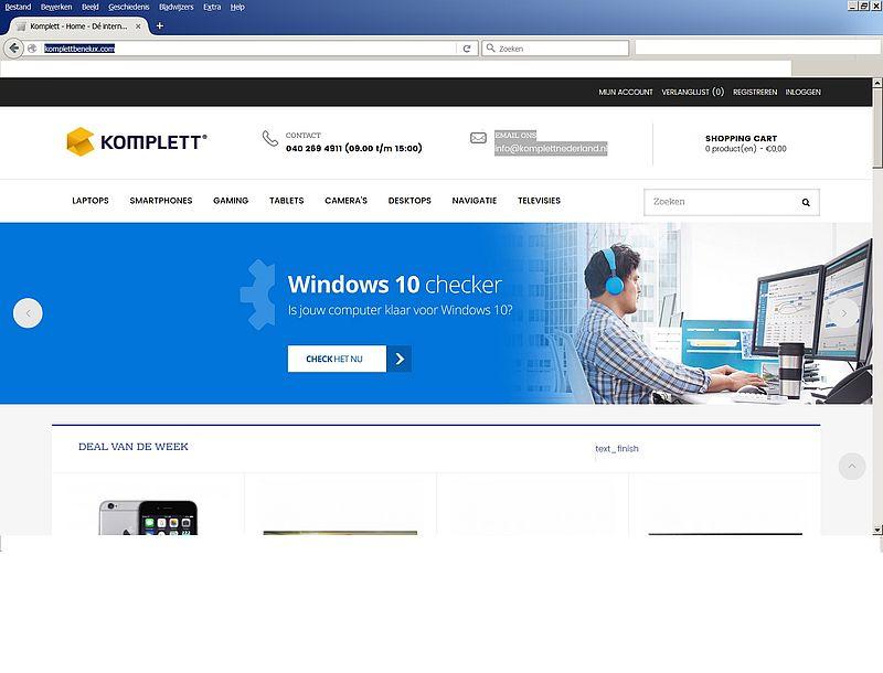 'Koop niks bij Komplettbenelux.com'