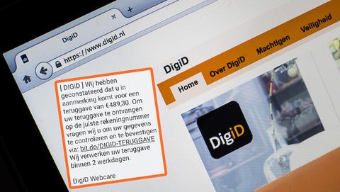 Veel valse sms-berichten van 'DigiD' in omloop
