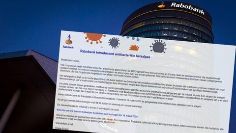 Valse mail 'Rabobank introduceert antibacteriële betaalpas' over coronavirus