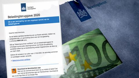 € 897,50 teruggave van de 'Belastingdienst'? Ook dat betreft phishing