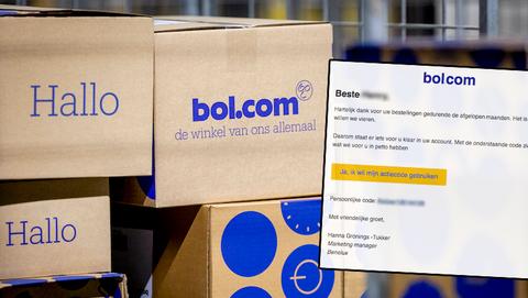 Valse mail van 'Bol.com' met persoonlijke actiecode: 'Hartelijk dank voor uw bestellingen gedurende de afgelopen maanden'