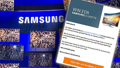 Winactie 'Samsung' leidt naar duur telefoonnummer