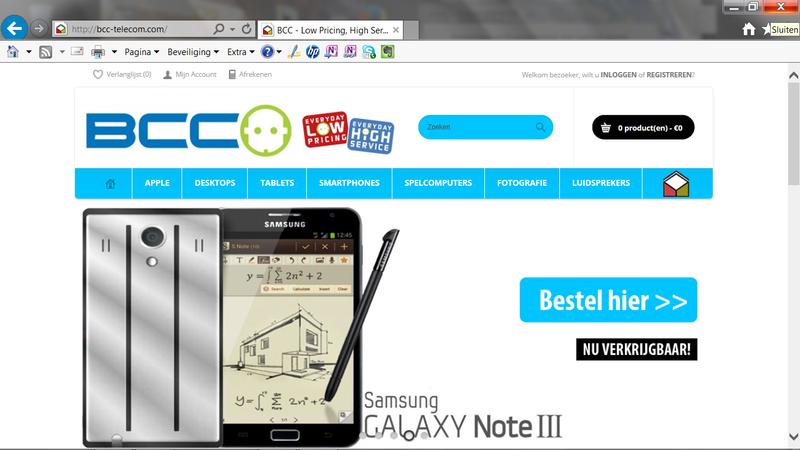 Let op! bcc-winkel.com is nep