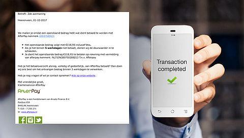 Phishingmail AfterPay: 'Tweede aanmaning'