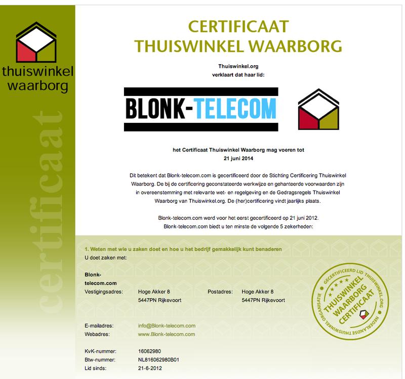 'Koop niet bij www.blonk-telecom.com'