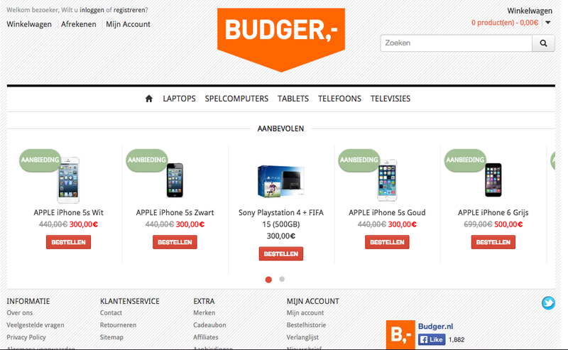'Te lage prijzen bij budger-shop.com!'