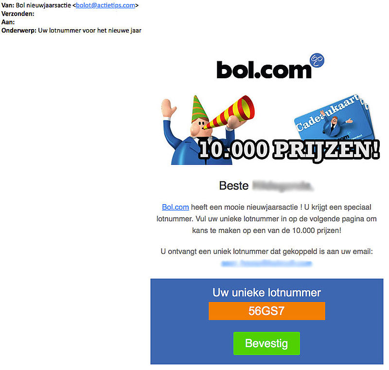 Pas op: malware-mails 'bol.com' in omloop