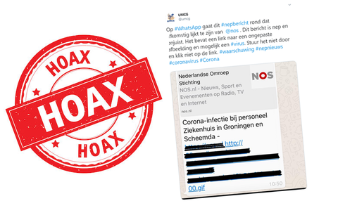 WhatsApp-bericht over coronavirus in Nederland is een hoax