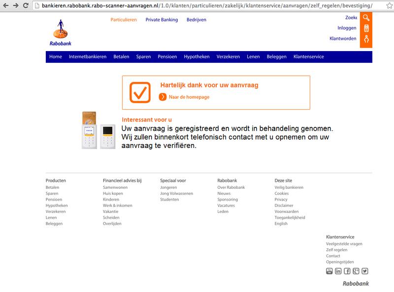Valse e-mail Rabobank: 'Raboscanner klaar voor gebruik'
