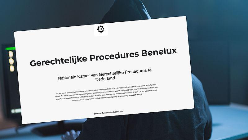 Spookfactuur van €382,45 afkomstig van 'Gerechtelijke Procedures Benelux'