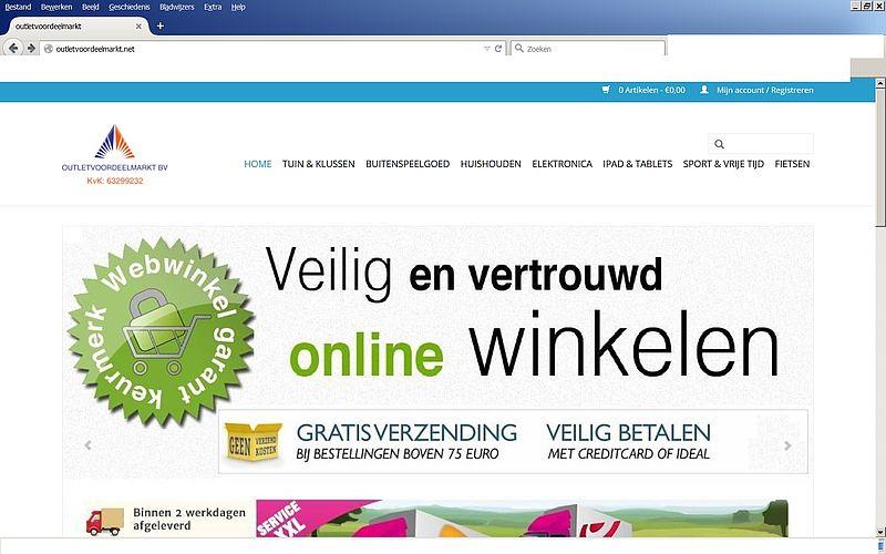 'Pas op voor outletvoordeelmarkt.nl en outletvoordeelmarkt.net!