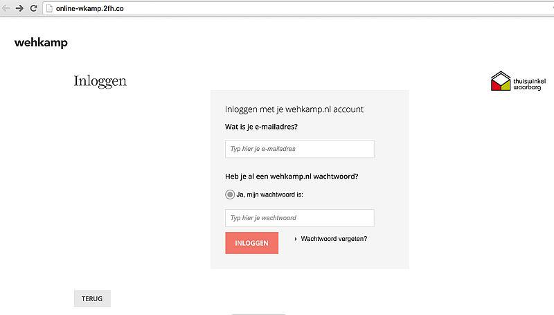 Phishing e-mail Wehkamp in omloop