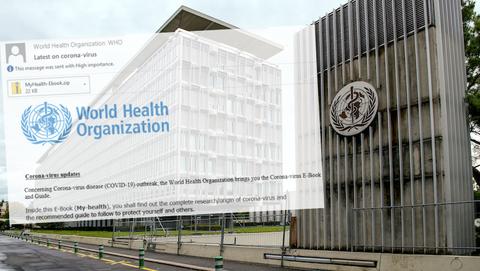 Corona-eBook in valse mail namens de World Health Organisation bevat malware