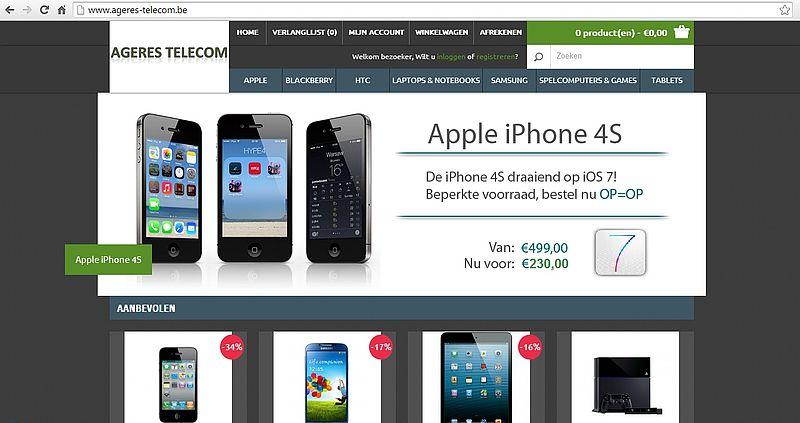 'Ageres-telecom.be misbruikt gegevens bonafide bedrijf'