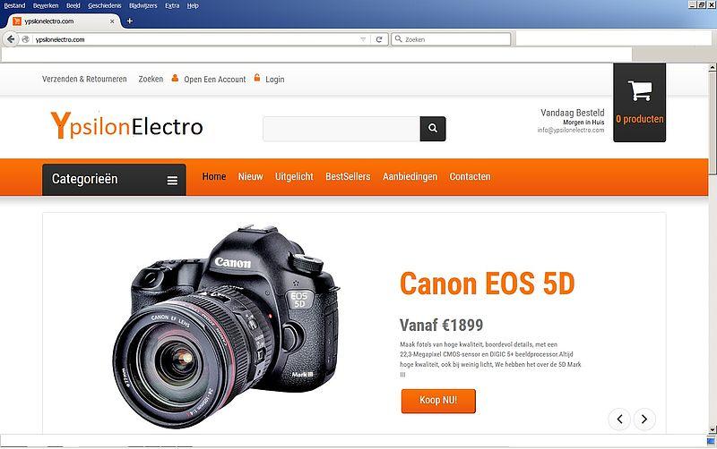 'Pas op voor webshop ypsilonelectro.com'