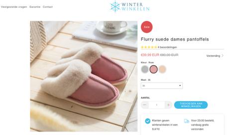 Politie waarschuwt voor de foute webshop 'Winterwinkelen.nl'