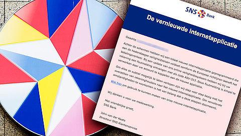 Phishingsite 'SNS' lijkt sprekend op echte site