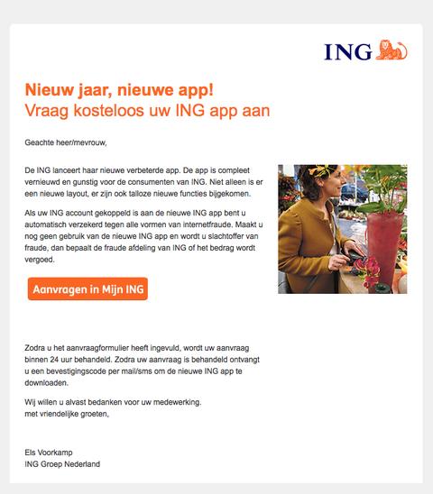 Trap niet in phishingmail 'Nieuw jaar, nieuwe app'