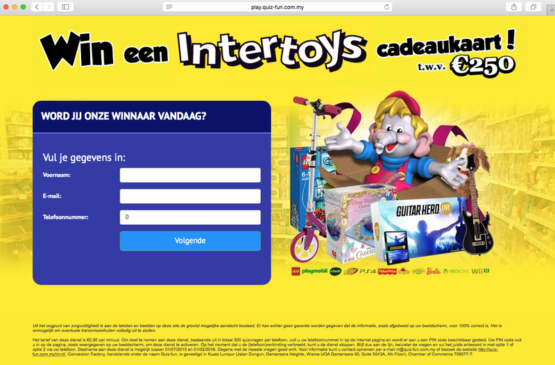 Valse winactie 'Intertoys'