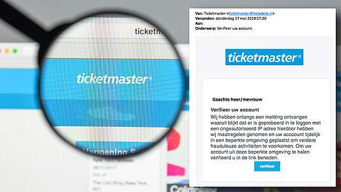 Pas op! Phishingmail 'Ticketmaster' in omloop