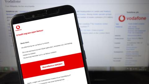Valse mail uit naam van Vodafone: 'Uw afschrijving van uw factuur is mislukt'