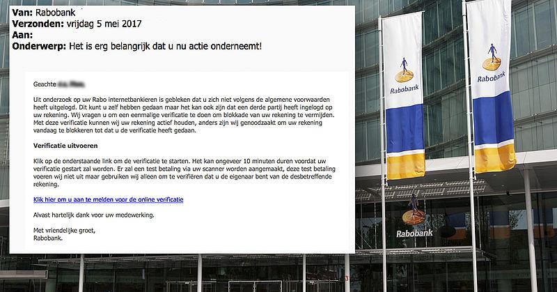 Pas op voor valse e-mail uit naam Rabobank