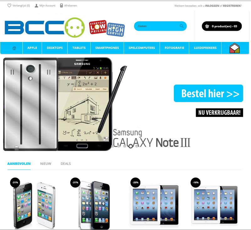 'Bcc-electro.com misbruikt logo en certificaat Thuiswinkel.org'