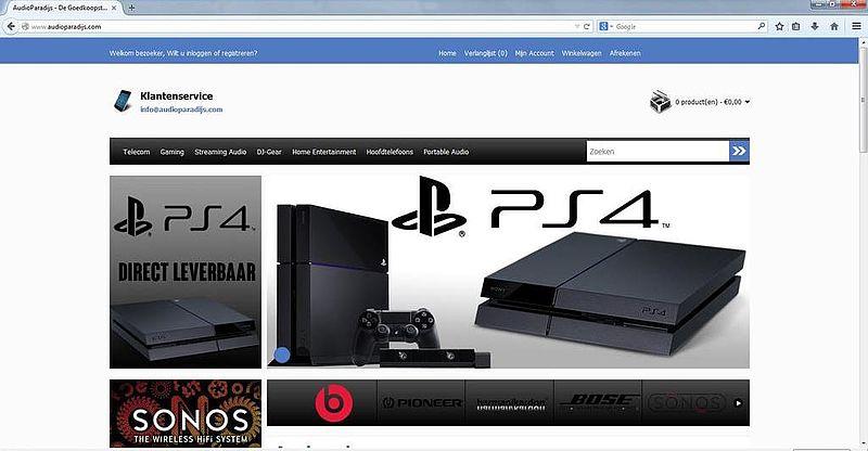 'Audioparadijs.com maakt gebruikt van gehackte Marktplaats-accounts'