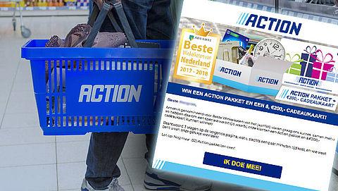 Valse winactie: 'Win een Actionpakket'