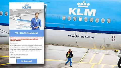 Opnieuw meldingen over misleidende winactie 'KLM'