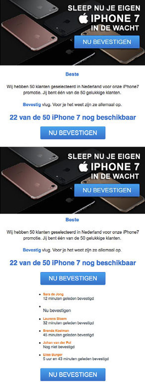 Valse winactie: iPhone 7