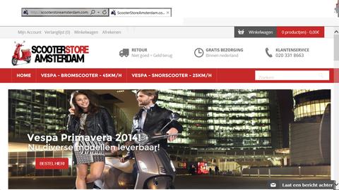 'Scooterstoreamsterdam.com hackt Marktplaats'