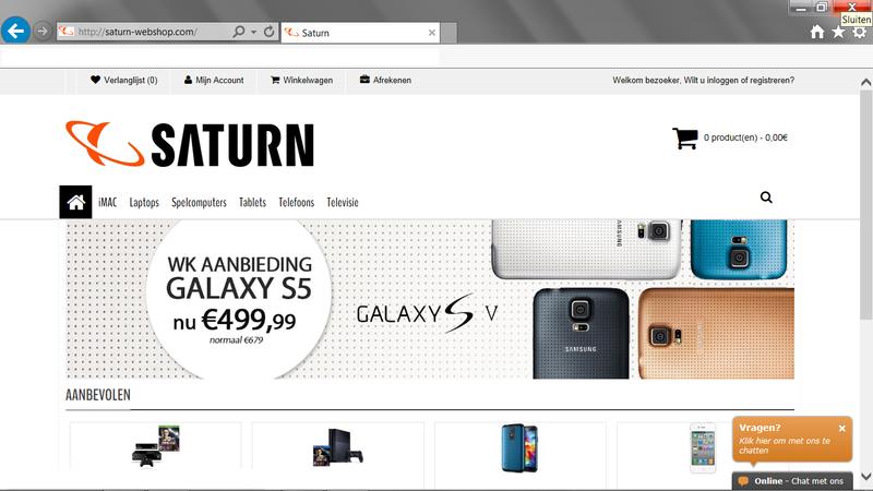'Saturn-webshop.com hackt Marktplaats accounts'