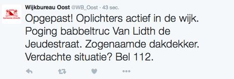 Oplichter actief in Utrecht