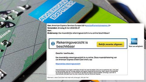 Phishingmail 'American Express' over rekeningoverzicht