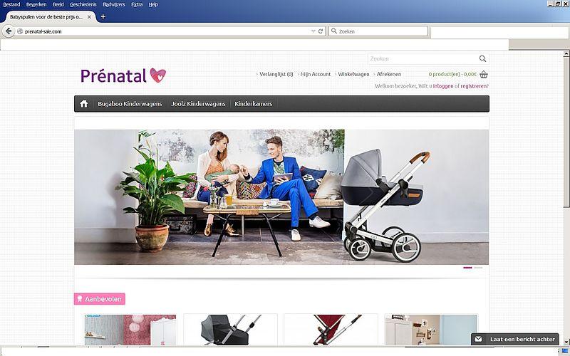 'Prenatal-sale.com misbruikt gegevens echte Prenatal'