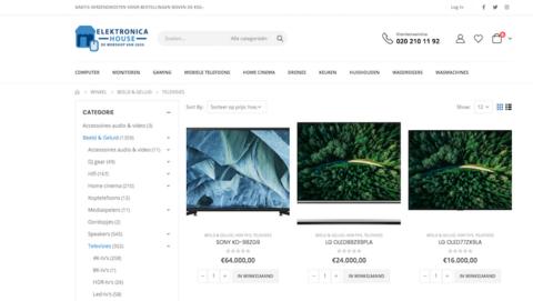 'Elektronicahouse.nl is vermoedelijk een malafide webshop', stelt de politie