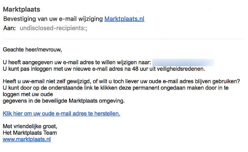 Trap niet in Marktplaats-phishing