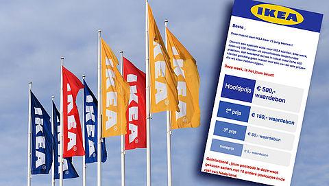 Pas op voor misleidende winactie 'IKEA'