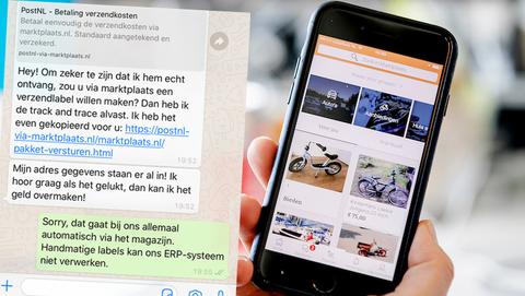 Heb jij op Marktplaats ervaring met valse 'PostNL via Marktplaats'-links via WhatsApp?