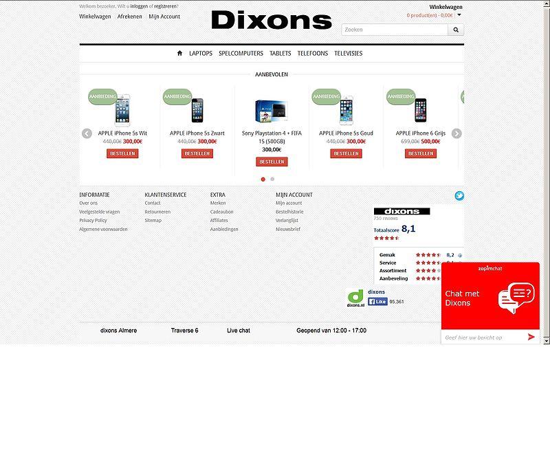 'Marktplaats-aanbieding.com bootst Dixons na'