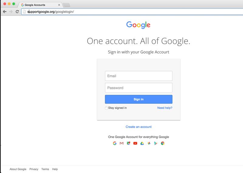 Pas op voor Google-phishing!