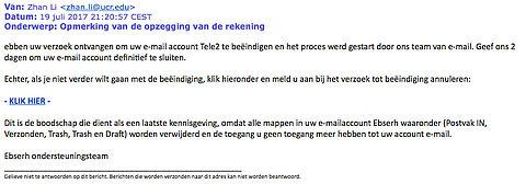 Fraudeurs sturen valse e-mail namens Tele2