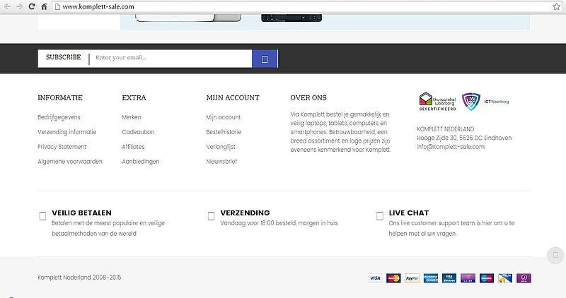 'Komplett-sale.com is malafide webshop'
